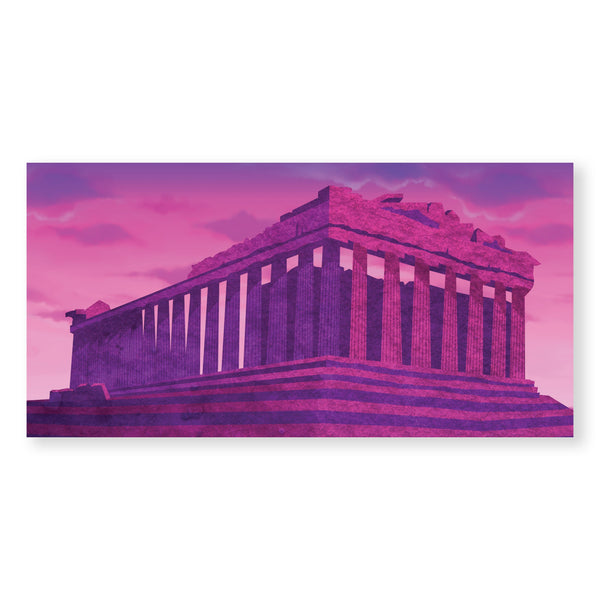 Twilight Parthenon Canvas Art Clock Canvas