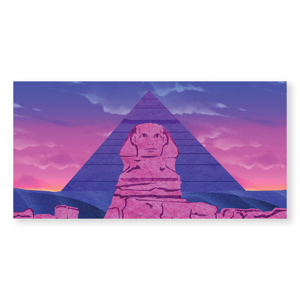 Twilight Sphinx Canvas Art Clock Canvas