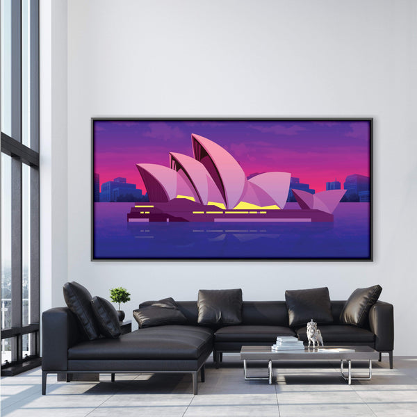 Twilight Sydney Canvas Art Clock Canvas