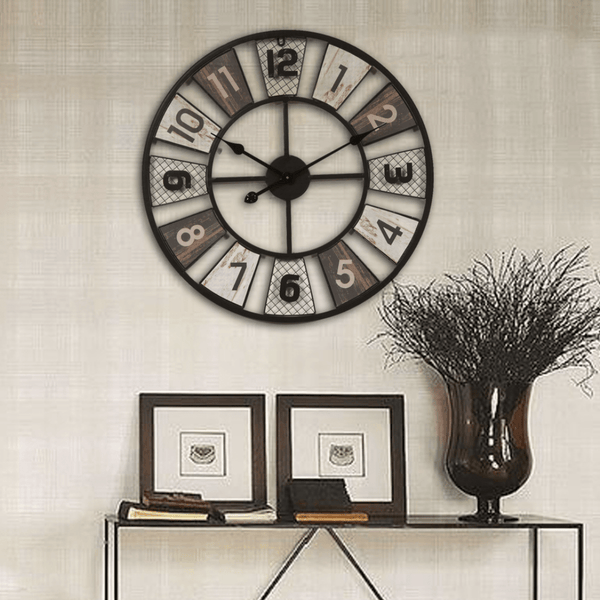 Vintage Iron Clock Canvas