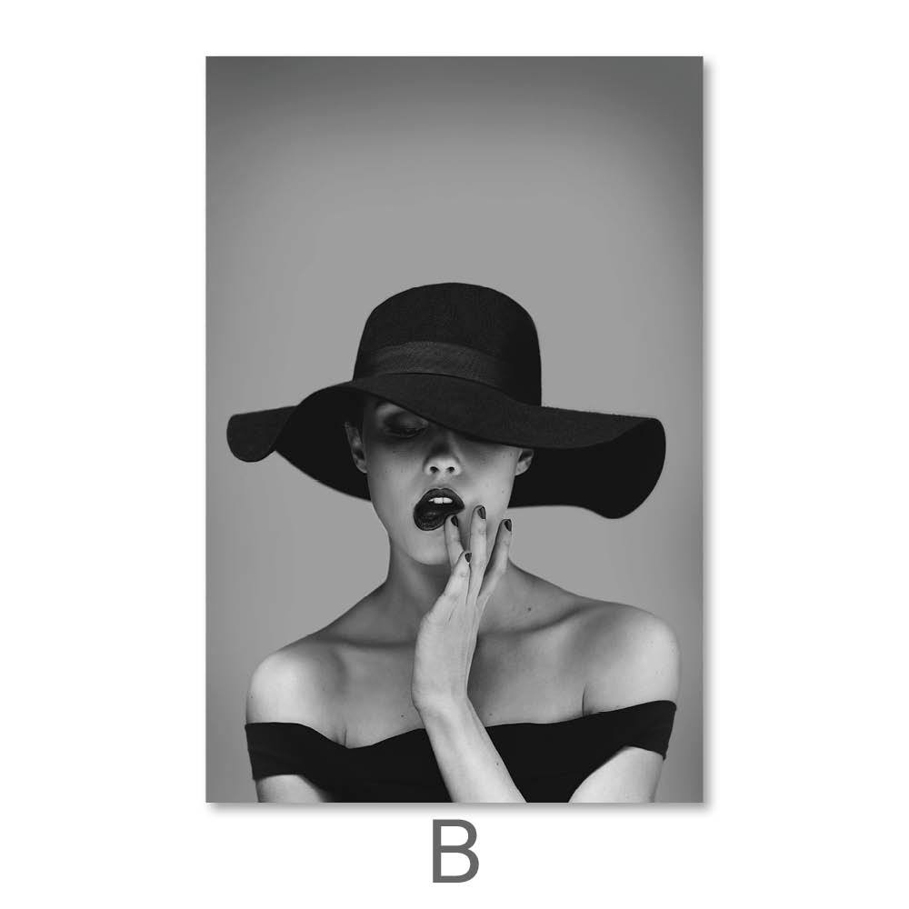 Vogue Woman Canvas Art B / 40 x 50cm / No Board - Canvas Print Only Clock Canvas