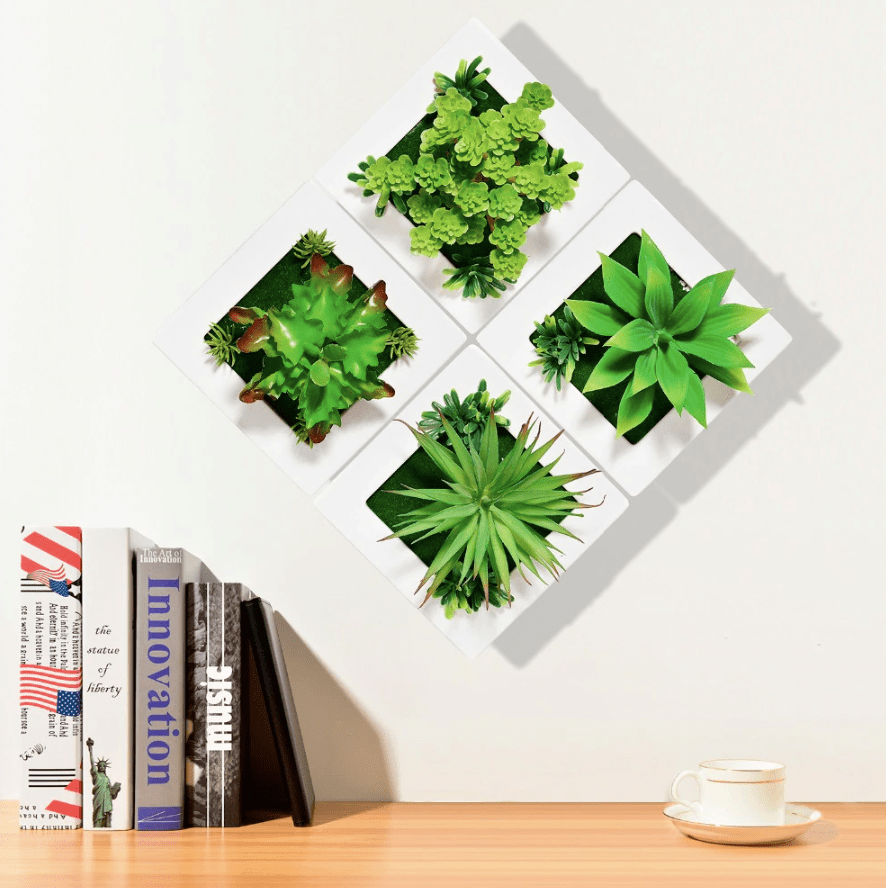 Wall Plants Clock Canvas