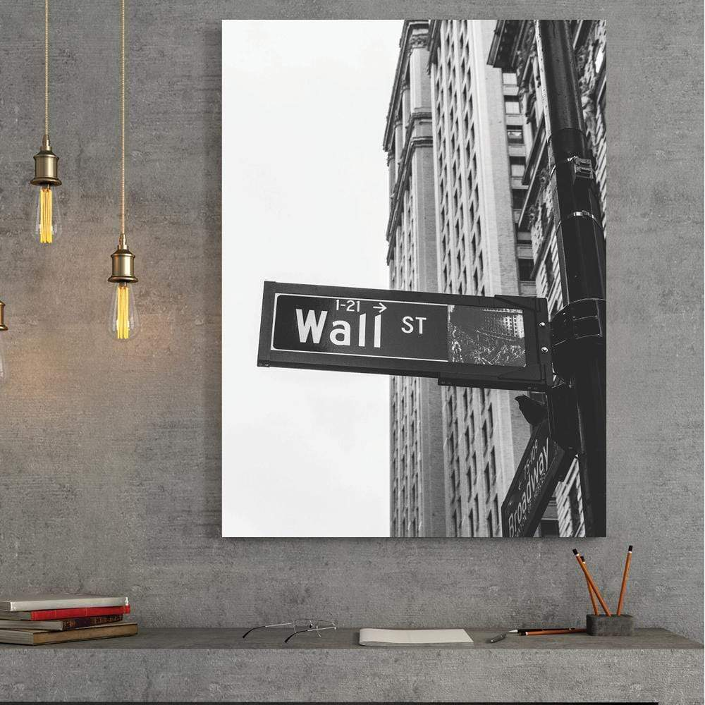 Wall Street Clock Canvas