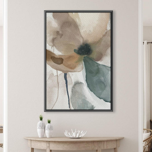 Watercolor Tones Canvas Art Clock Canvas