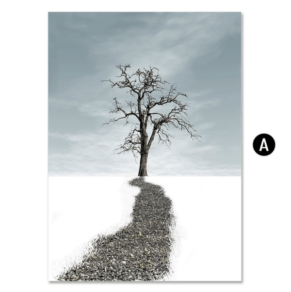 Winter Forest Canvas Art A / 40 x 50cm / No Board - Canvas Print Only Clock Canvas