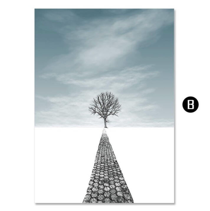 Winter Forest Canvas Art B / 40 x 50cm / No Board - Canvas Print Only Clock Canvas
