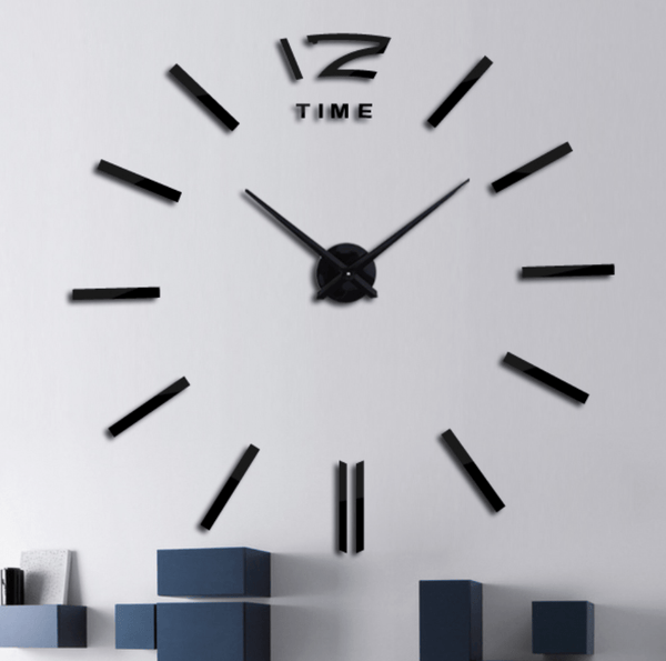 Yalta Black Clock Canvas