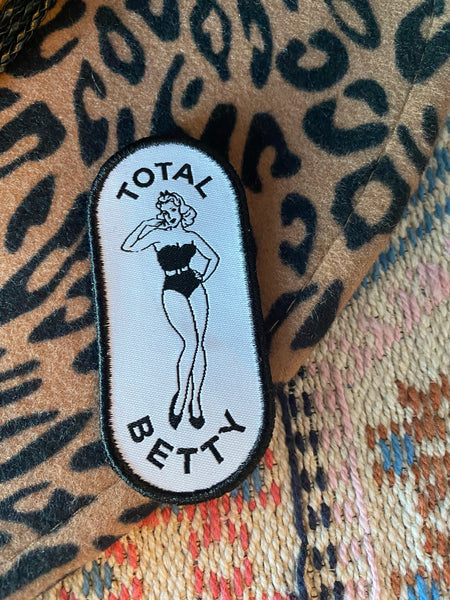 TOTAL BETTY Pin-Up Girl Patch