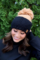 Stay Warm Beanie | Black + Tan
