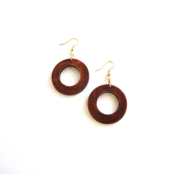 Mini Makaya Earrings | Mahogany