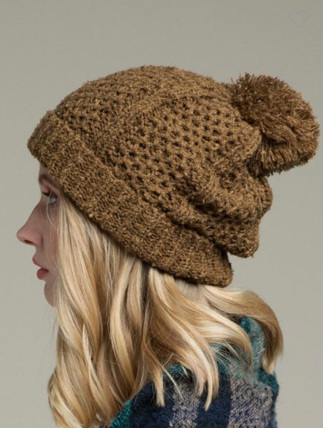 Knit Beanie with Pom Pom | Choose Color