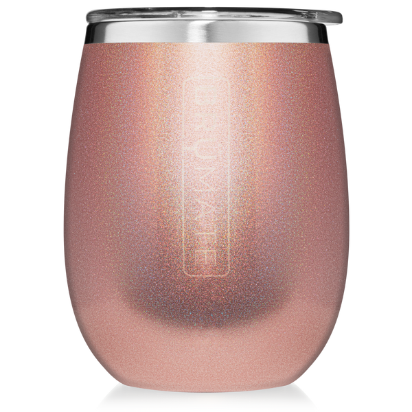 UNCORK'D XL WINE TUMBLER | Glitter Rose Gold
