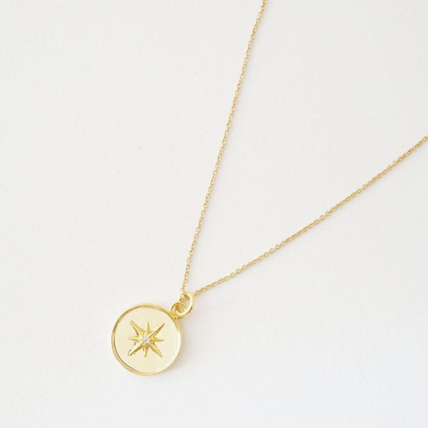 Celestial Starburst Necklace | Gold