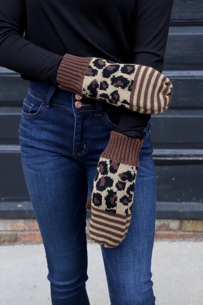 Mittens | Leopard + Stripes