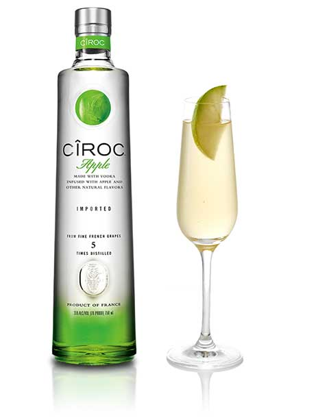 Ciroc Vodka Apple Mimosa Cocktail