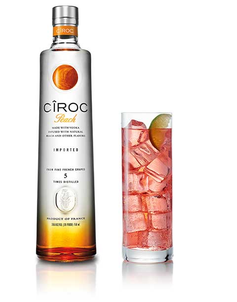 Ciroc Vodka On The Beach Cocktail