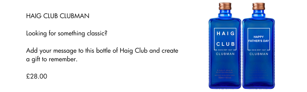 Haig Club Fathers Day Personalised Gift