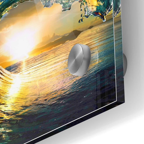 Epic Art 'The Language of Waves' Acrylic Glass Wall Art