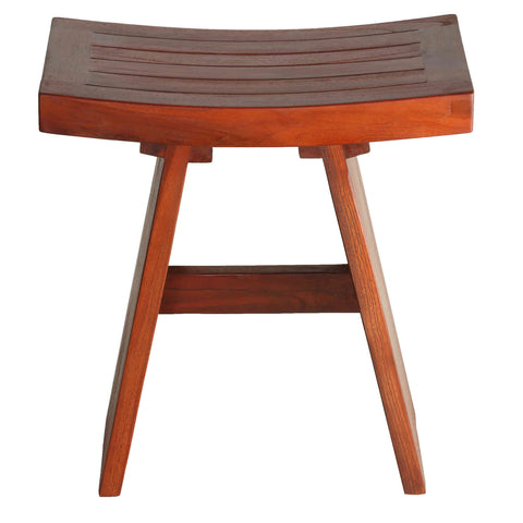 "Image of Bare Decor Sofi Shower Stool in Solid Teak Wood, 18""x12""x18"""