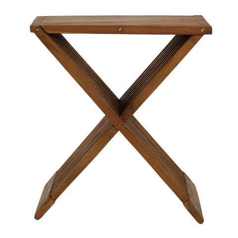 Image of Bare Decor Rocco Folding Stool in Solid Teak Wood
