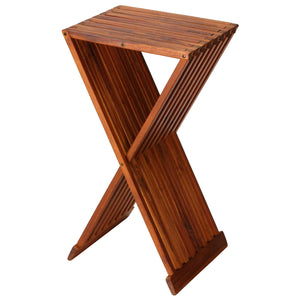"Bare Decor Taj Folding Plantstand End Table in Solid Teak Wood, 28"" High"