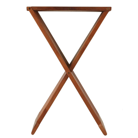 "Bare Decor Leaf Folding Counterstool in Solid Teak Wood 24"" high"