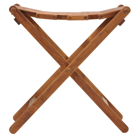 Image of Bare Decor Mosaic Folding Stool in Solid Teak Wood