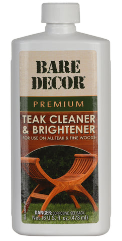Bare Decor Premium Teak Cleaner for Home and Marine Use, 16oz