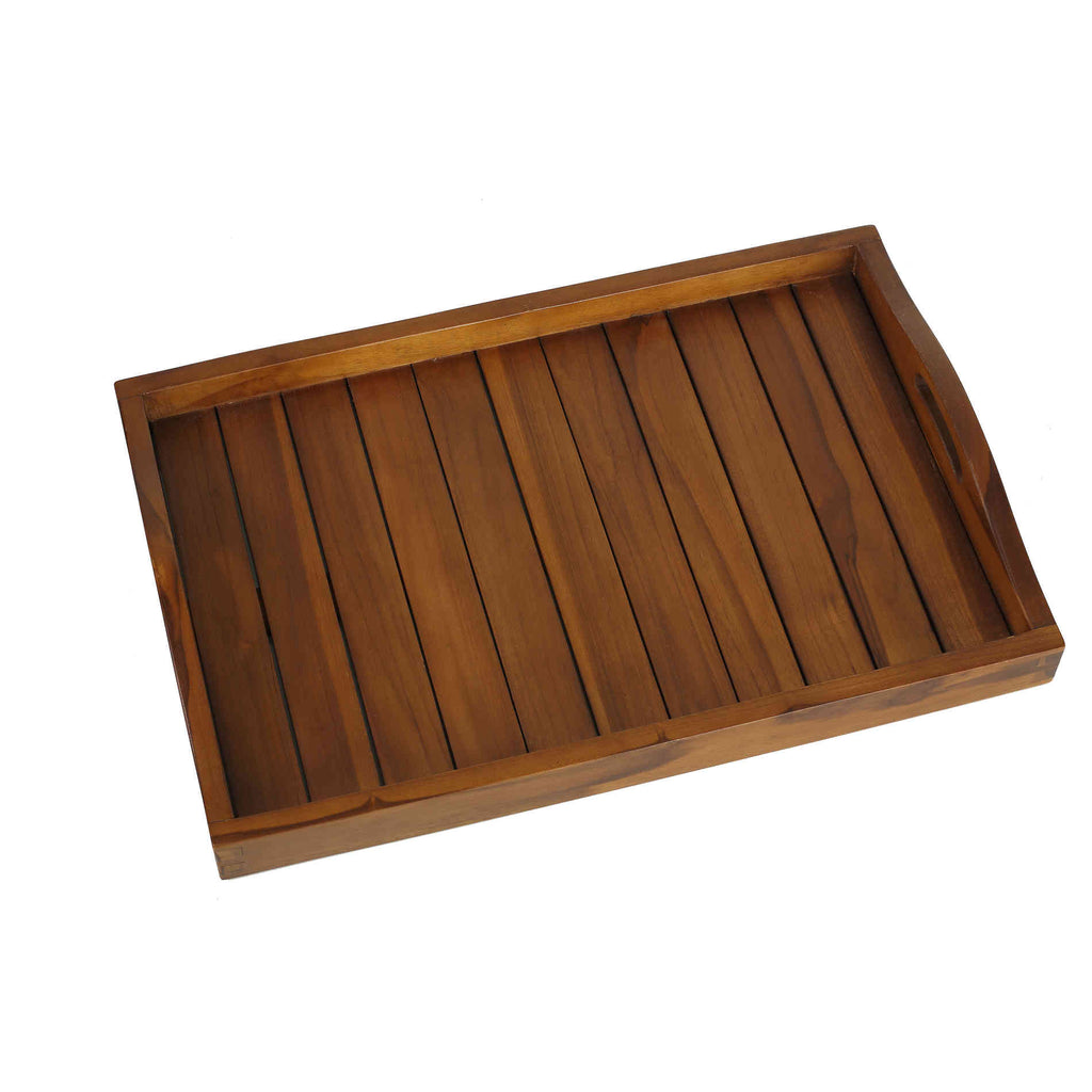 Bare Decor Kalos Indoor/Outdoor Tray Table in Solid Teak Wood