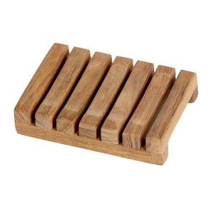 Bare Decor Sudsy Soap Dish, Genuine Teak Wood