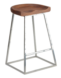 Cortesi Home Monarch Saddle Seat Counter Stool (Set of 2), 25""
