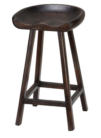 Image of Bare Decor Lucy Wooden Counter Stool, 26""