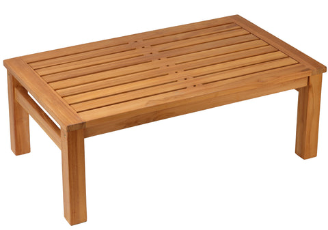 "Bare Decor Gaston Outdoor or Indoor Solid Teak Wood Coffee Table, 48"" x 28"""