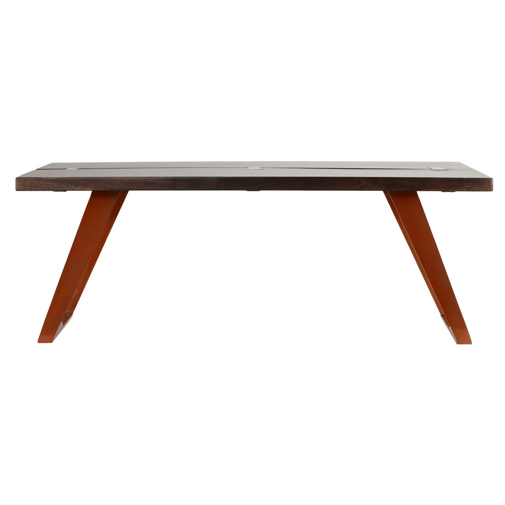 Bare Decor Admiral Wood Coffee Table with Steel Frame