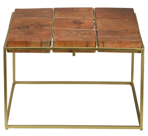 Bare Decor Cheyenne Metal and Wood Coffee Table