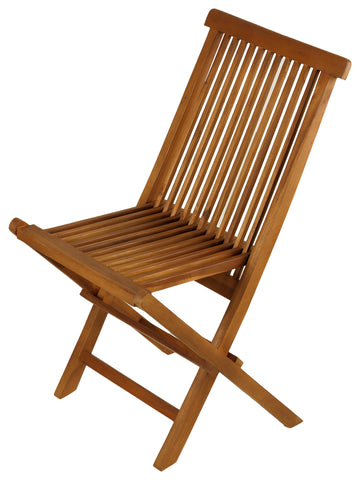 Image of Bare Decor Vega Golden Teak Wood Outdoor Folding Chair (Set of 2)