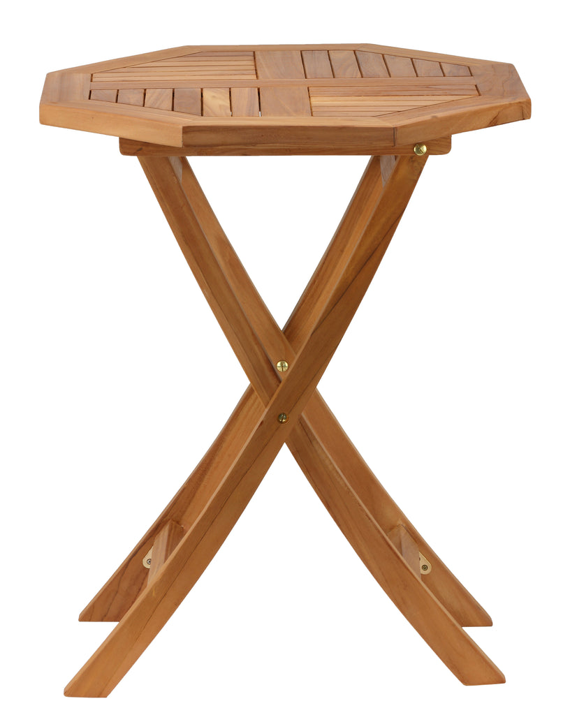 Bare Decor Romanee Octagon Outdoor Teak Folding Dining Table
