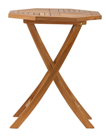 Image of Bare Decor Romanee Octagon Outdoor Teak Folding Dining Table