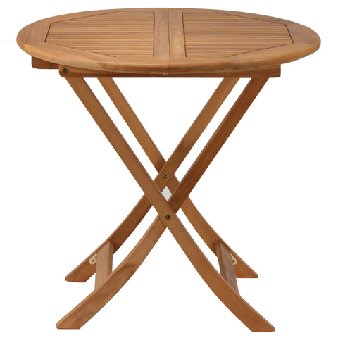 "Bare Decor Darcy Outdoor Teak Folding Dining Table 31"" Round"