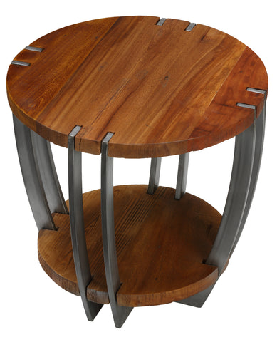 Image of Bare Decor Hudson Metal and Wood End Table