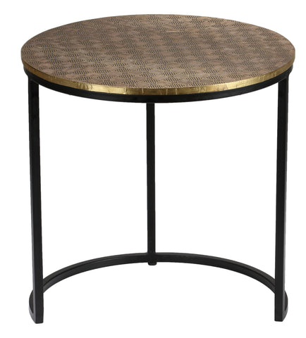 Image of Bare Decor Georgia Metal Nesting End Tables, Set of 3