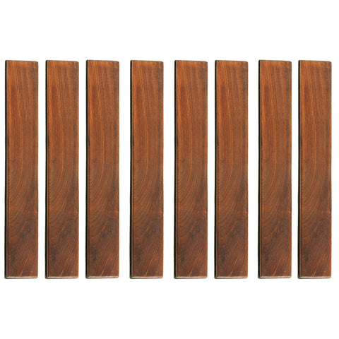 Image of Bare Decor EZ-Floor End Pin-Side Trim Piece for Flooring in Solid Teak Wood (Set of 8)