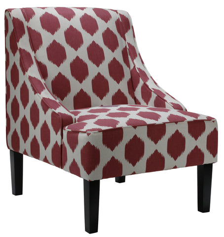 Cortesi Home Celene Accent Chair, Red