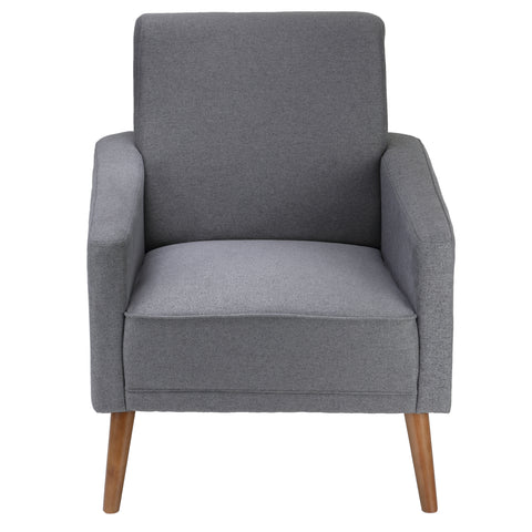 Image of Cortesi Home Ayden Mid-Century Modern Armchair, Grey