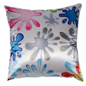 Cortesi Home Decorative Square Accent Pillow, Fun Splat