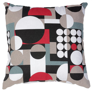 Cortesi Home Mondo Decorative Square Accent Pillow, Geometric Print