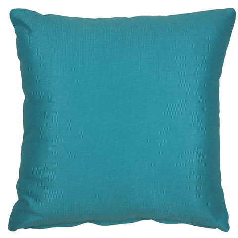Cortesi Home Jakie Decorative Square Accent Pillow, Azure Blue