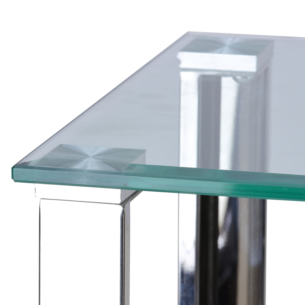 Cortesi Home Melissa Double Shelf Glass Console Table, 43""