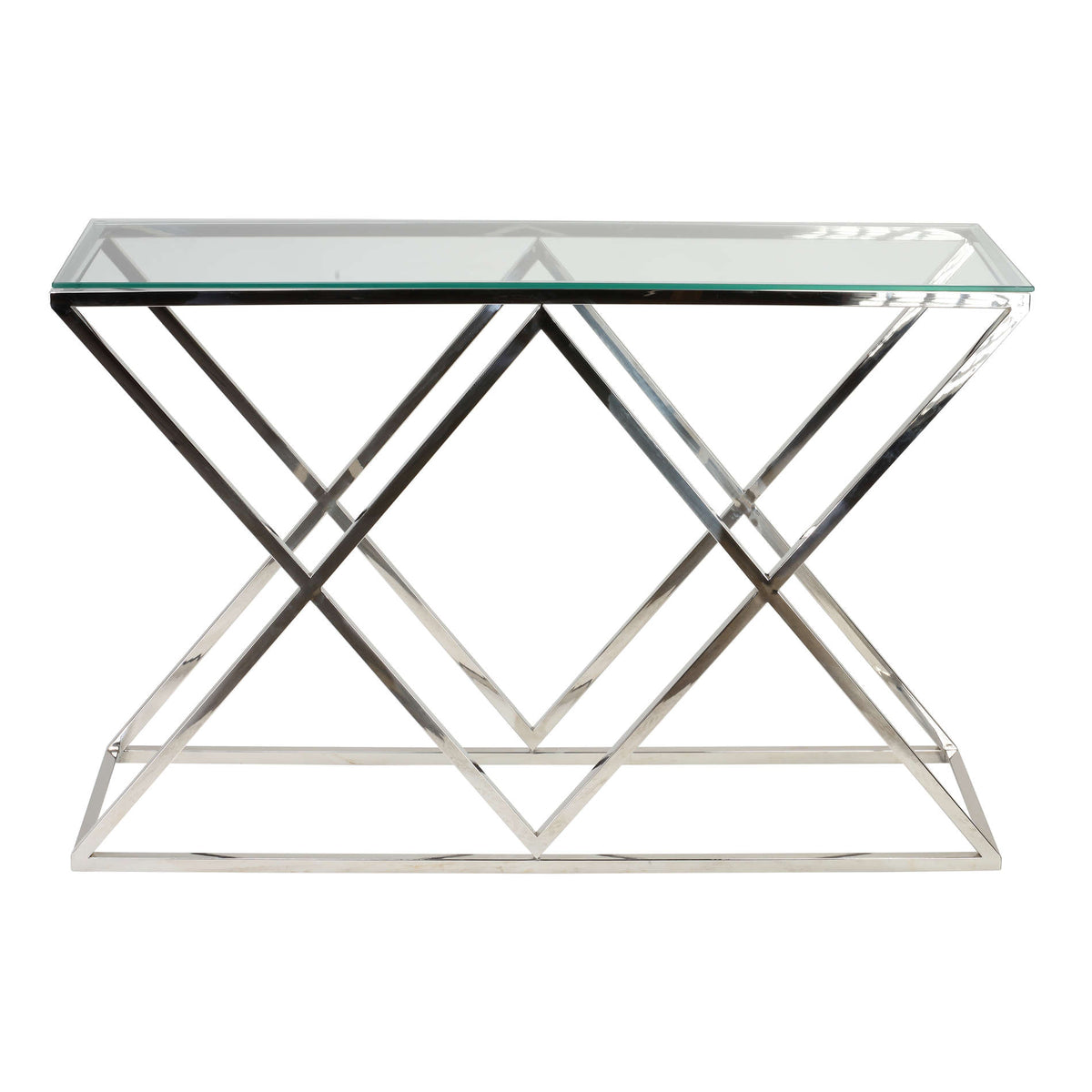 Cortesi Home Gwen Contemporary Glass Console Table