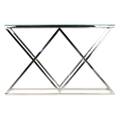 Image of Cortesi Home Gwen Contemporary Glass Console Table